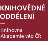 Knihovna Akademie věd ČR – Knihovědné oddělení